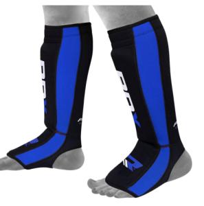 Boxbandagen Schienbeinschutz blau